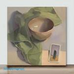 Mini – Bowl on the table(Already Framed Canvas)