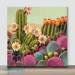 Mini – Color cactus(Already Framed Canvas)