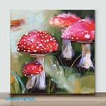 Mini – Group of mushrooms(Already Framed Canvas)