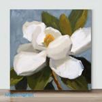 Mini – A little white flower 3(Already Framed Canvas)