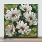 Mini – A little white flower 2(Already Framed Canvas)