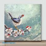 Mini-Bird on branch 9(Already Framed Canvas)