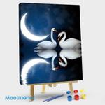 Swan Under The Moon