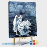 Playful Swan