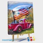 America Flag Car