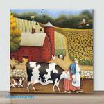 Mini-Aunt Sadie's Farm(Already Framed Canvas)