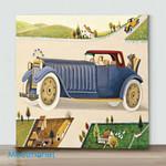 Mini-Man Driving Car(Already Framed Canvas)