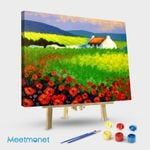 Poppy Field With House