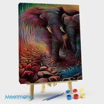 Abstract Colorful Elephant