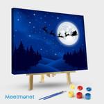 Santa's sleigh on Moon