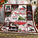 Christmas Jeep Sofa Throw Blanket LHA404