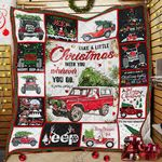 Christmas Jeep  Quilt LHA404