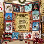 All I Want For Christmas Is Books Quilt PN886