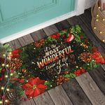 Block Of Gear� Christmas Is The Most Wonderful Time Of The Year Doormat CTN100