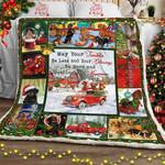 Christmas Dachshund  Sofa Throw Blanket  MLH493