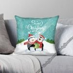 Block Of Gear� Christmas Couple Penguin Cushion Cover CTN152