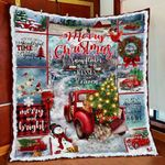 At Christmas All Roads Lead Home. Red Truck Quilt Blanket ART01Q