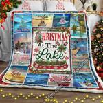 Christmas At The Lake  Sofa Throw Blanket LHA413