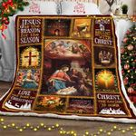Christmas Begins With Christ  Sofa Throw Blanket  MLH498