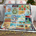 Beachy Little Christmas For You Sofa Throw Blanket PN909