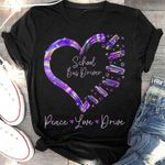 School bus driver peace love drive holographic color heart shape t shirt hoodie sweater sweater