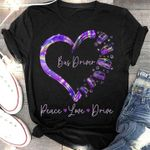 Bus driver peace love drive holographic color heart shape t shirt hoodie sweater sweater