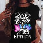 I am janet i may not be perfect but i'm limited edition butterfly colorful t shirt hoodie sweater sweater