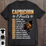 Capricorn facts 99% wild at times 140% charming as hell 100% tell it like it is t shirt hoodie sweater sweater