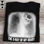 Cute cat inside the x ray of my heart for cat lover t shirt hoodie sweater sweater