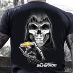Skull reaper chevrolet silverado for fan t shirt hoodie sweater sweater