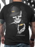 Chevrolet logo skeleton for fan t shirt hoodie sweater sweater
