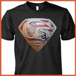 Chicago bears and chicago white sox superman logo style american flag for fan t shirt hoodie sweater sweater
