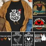 Chicken i raise tiny dinosaurs funny for chicken lover vintage t shirt hoodie sweater sweater