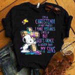 Im a christian im not perfect i make mistakes but god's grace is bigger than my sins holographic color t shirt hoodie sweater sweater