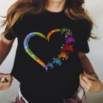 Heart lovely shape love abstract rainbow colorful t shirt hoodie sweater sweater