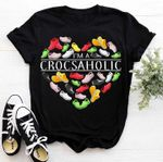 Im a crosaholic heart shape for crocs lover t shirt hoodie sweater sweater