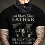 Official black father a son's first hero a daughter's first love the king the myth the legend father's day t shirt hoodie sweater sweater