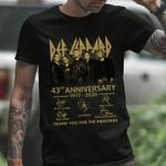 Def leppard rock band 43rd anniversary members signature thank you for the memories for fan t shirt hoodie sweater sweater