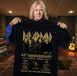 Def leppard 43rd anniversary members signature thank you for the memories for fan t shirt hoodie sweater sweater