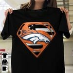 Denver broncos superman logo style american flag for fan t shirt hoodie sweater sweater