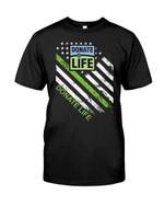 Donate life america organization logo american flag t shirt hoodie sweater sweater