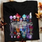 Dragon ball tournament of power son goku vegeta jiren zeno water reflection for fan t shirt hoodie sweater sweater