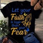 Let your faith be bigger than your fear holy cross glitter t shirt hoodie sweater sweater