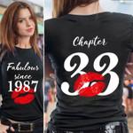 Pretty fabulous since 1987 chapter 33 lips t shirt hoodie sweater sweater