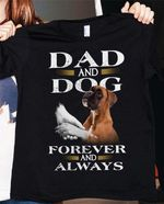 Official dad and dog forever and always happy father's day t shirt hoodie sweater sweater