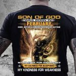 Son of god was born in february dont ever mistake my calmness for acceptance my kindness reaper t shirt hoodie sweater sweater
