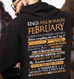 Kings are born in february completely unexplainable lives by their very own way  t shirt hoodie sweater sweater