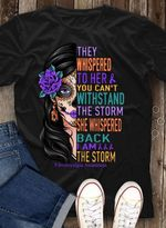Fibromyalgia they whispered to her you cant withstand the storm sugar skull lady t shirt hoodie sweater sweater