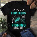 I'm a flip flops and fishing kinda girl t shirt hoodie sweater sweater