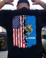 American flag coser with oklahoma state flag t shirt hoodie sweater sweater